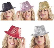 Sequin Fedora Hat Dance Costume Sparkle Shiny Dazzle Glam Mardi Gras BW0708