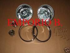 Kit 2 Fari, 2 cornici,10 Mollette, 2 Lampadine FIAT 500