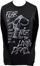LADIES LONG SLEEVE TOP NIGHT OF THE LIVING DEAD SKULL FEAR GEORGE ROMERO S-2L