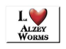 DEUTSCHLAND SOUVENIR KÜHLSCHRANKMAGNET FRIDGE ICH LIEBE I LOVE ALZEY WORMS