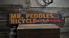 Custom Bicycle Rental & Repair Sign - Rustic Hand Made Vintage Wooden ENS1000494