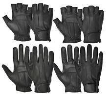 Real Leather Dedo Conducción Conducción Guantes Dedo Completo menos Estilo Retro Clásico