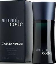 GIORGIO ARMANI CODE EAU DE TOILETTE 50ML SPRAY - MEN'S . NEW