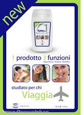 TUTTO IN UNO - Bagnodoccia / Shampoo / Dentifricio - Studiato per chi viaggia