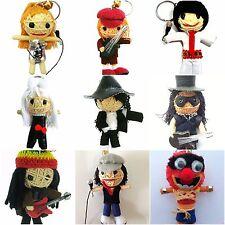Music Icon Musician Voodoo String Doll Keychain Keyring Dropdown Menu UK SELLER