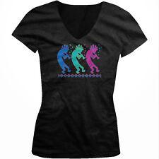 Kokopelli Hopi Fertility Gods Native American Spirit Heal Juniors V-neck T-shirt