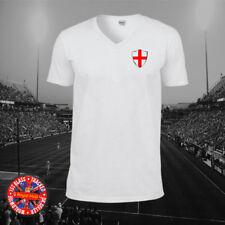 England Inspired Retro V-neck T-shirt, Football, Gift, Euro, World Cup
