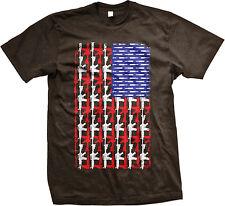 American Flag Guns Rifles Bullets Second Amendment Bear Arms USA Men's T-Shirt