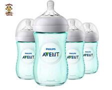 Avent Natural Feeding Bottle, New Spiral Teats Design, 9 oz, Teal, 1 to 4 Pack