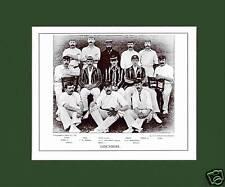 MOUNTED CRICKET TEAM PRINT - LANCASHIRE - 1895