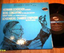 SCHOENBERG.SCHERCHEN- CHAMBER SYMPH. OP 9.BERG CONCERTINO  PIANO VIOLIN & WINDS