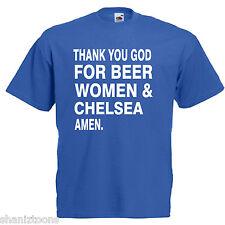 BIRRA DONNE Chelsea Adulti Da Uomo T Shirt 12 Colori Taglia S - 3XL