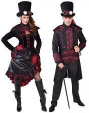 Barock Rokoko Kleid Kostüm Steampunk Herren Damen Gothic Halloween Hut schwarz