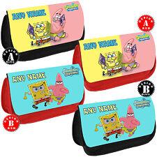 SPONGEBOB Squarepants Personalised Pencil Case School Gift Any Name Make up Bag