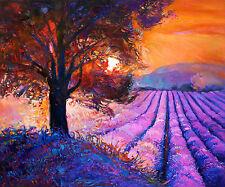 "art painting  print australia modern sunset large tree  landscape 24"""