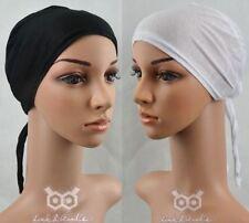 Lady Plain cheveux Bonnet couverture Cap Hat avec cravate Hijab tête sous écharpe Abaya de l'Islam