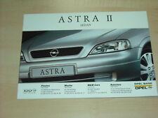 36330) Opel Astra II Sedan Polen Prospekt 1999