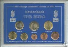 La zona Euro-Regno dei Paesi Bassi Olanda Olandese RACCOLTA MONETE Set Regalo