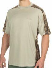 Bimini Bay SS Mens Camo Pieced Shirt UPF30 sz M Wicking (Stone, Rust or Black)