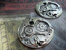 Clock Gears Watch Gears-Watch Parts-Clock Face-Silver-2pcs 5pcs