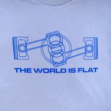ENGLISH WORLD IS FLAT ENGINE T-SHIRT BOXER ENGINE CORVAIR PORSCHE VEE DUB BUG