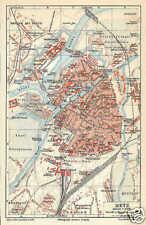 Metz Moselle Lothringen alter Stadtplan um 1907 Montigny Symphorien Voigts-Rhetz