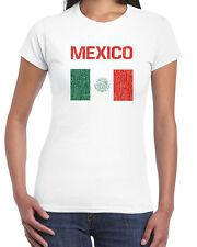 446 Mexico Flag womens T-shirt latino immigrant pride Tijuana latin amigo retro