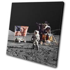 NASA Apollo Astronaut Moon Space SINGLE CANVAS WALL ART Picture Print