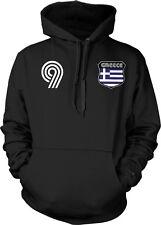 Greece Greek National Country Pride Crest Ethniki Ellados Soccer Hoodie Pullover