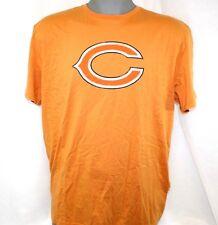 NEW Mens REEBOK Chicago BEARS Logo Autumn Orange Vintage NFL Tee T-Shirt B200A