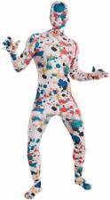 Art Splatter Paint Disappearing Man Invisible Skin Fancy Dress Halloween Costume