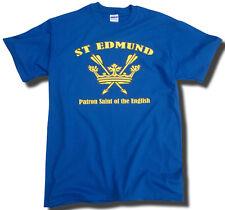 ST EDMUND T-SHIRT PATRON SAINT OF THE ENGLISH - BLUE - England, Anglo-Saxon