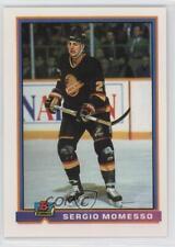 1991-92 Bowman #309 Sergio Momesso Vancouver Canucks Hockey Card