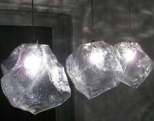 New Modern Ice Rock Clear Glass Pendant Light bar Ceiling Lamp Lighting Kitchen