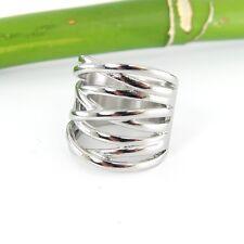 Massiver aparter breiter Damenring Ring aus Edelstahl in Flechtoptik