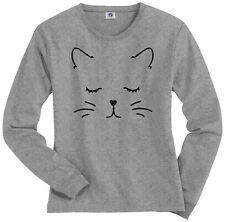 Kitty Cat Face Women's Long Sleeve T-Shirt Pet Kitten Lover Gift Meow