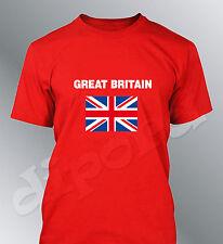 Tee shirt drapeau Anglais homme euro football Union Jack flag Great Britain