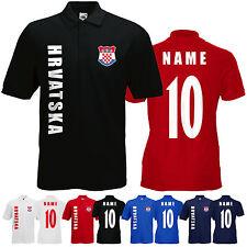 WM 2018 Kroatien HRVATSKA Polo-Shirt Trikot Name Nummer