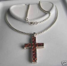 Kette 925er Silber Silberkette Lumani mit Kreuzanhänger