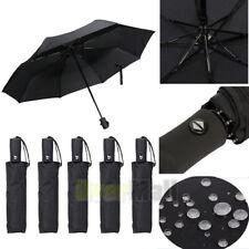 5x Folding Automatic Umbrella Anti-UV Sun/Rain Windproof Compact Umbrella Black