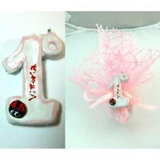 25 pz Bomboniera Artigianale Primo Compleanno Bambina Bimba Femmina Numero Rosa