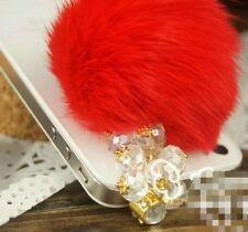 3.5mm  Fur Ball Cellphone Anti-Dust Ear Cap Plug For iPhone/Samsung/Smart Phone
