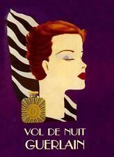 Fashion Lady Cosmetic Vol De Nuit Guerlain Perfume Vintage Poster Repro FREE S/H