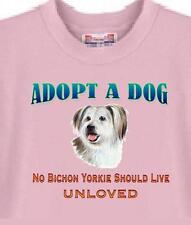 Dog T Shirt - ADOPT A DOG Bichon Yorkie - Men's T Shirt Availabe Adopt Animal #4