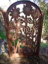 Metal Art Gate Sunflower Ranch Farm Pedestrian Walk Thru Country Iron Garden