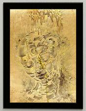 Salvador Dali Study of the head canvas print framed giclee 6.8X8.8&10X13,6