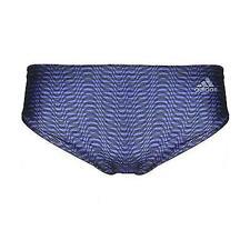 Adidas Mens Lycra Brief Swim Geometric [Navy] - Size 26,28,30,32