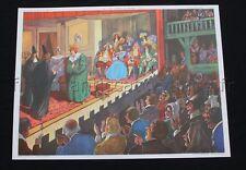 C045 Affiche Scolaire vintage Colbert Comédie Molière Rossignol Ecole 39 40 +