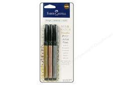 NEW Faber Castell PITT Artist Pens Metallic Journaling India Ink Gelatos GOLD