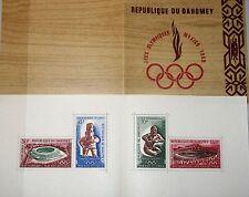 DAHOMEY 1968 360-63 Block 15 C85-88a Olympics Mexico Aztec Stadium Mayan Art MNH